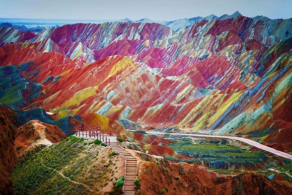 Parque geológico zhangye danxia, gansu, china