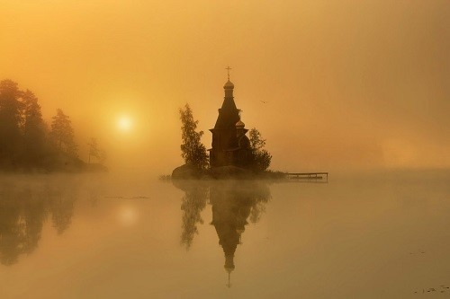 The-lonely-church-against-misty-background-500x333