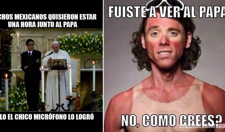 Con la visita del Papa llegaron también los memes