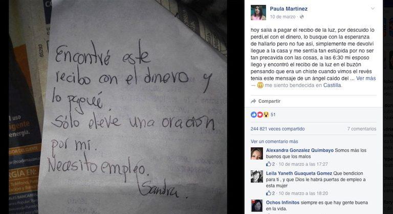 VIRAL: Inician campaña para encontrar a mujer que pagó un recibo que se encontró tirado