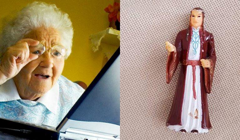 Esta bisabuela ha estado rezándole a una imagen del Señor de los Anillos
