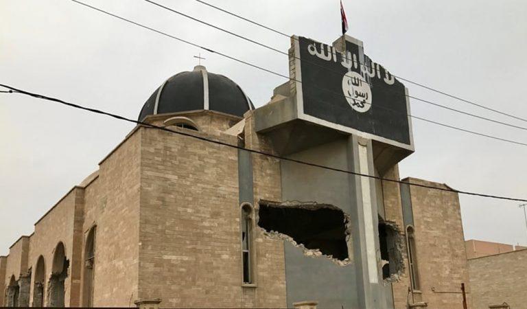 La iglesia en Irak que a pesar de haber sido casi destruida guarda en su interior una maravillosa imagen
