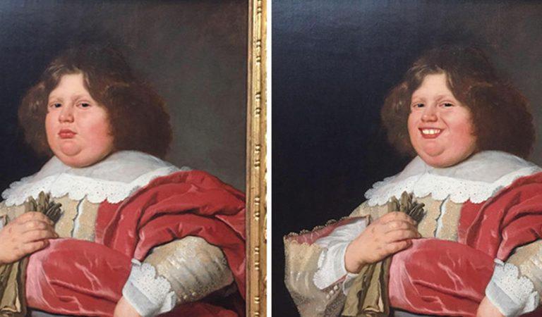"""Diseñadora les """"dibuja"""" una sonrisa a pinturas clásicas porque estaban """"muy serias"""""""