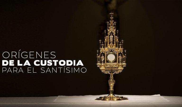¿Cuándo la iglesia decidió usar la custodia para exponer al Santísimo?