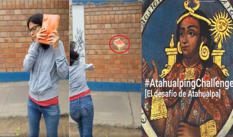 """#AtahualpingChallenge: el """"reto"""" que consiste en lanzar la Biblia al piso"""