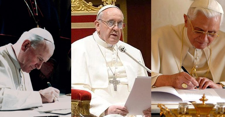 Conoce la diferencia entre Carta apostólica, Encíclica y Exhortación apostólica