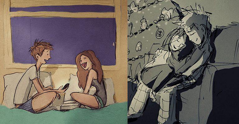 Artista dibuja a su esposa los 365 días para demostrarle su amor