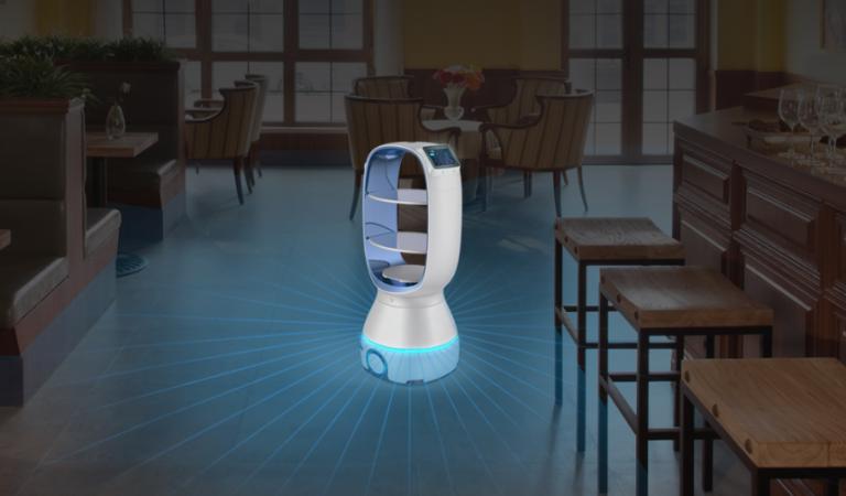 Ante cuarentena por Coronavirus, un robot les lleva comida a los pacientes ¡Conócelo!
